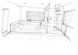 Badkamer ontwerpen schets
