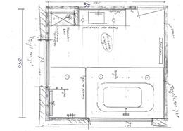 Badkamer ontwerpen plattegrond